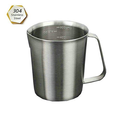 GuDoQi 304 Edelstahl Skala Tasse mit Messskalen für Tee, Kaffee und Latte (Messbecher Oz)