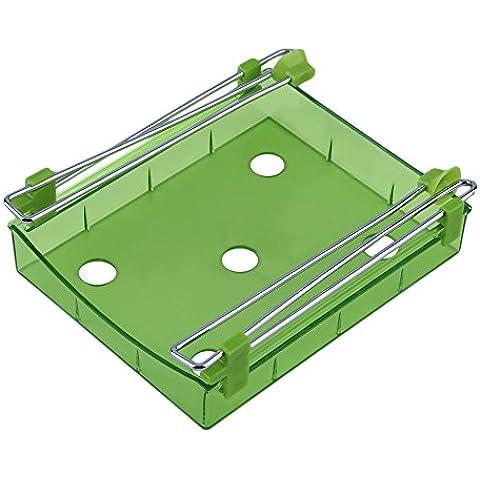 yuver (TM) Universal Creative estante para frigorífico capa partición cajón extraíble de soporte organizador estante de la cocina de rack de almacenamiento de lado