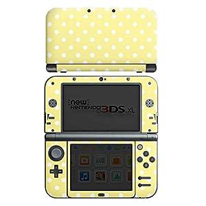 DeinDesign Skin kompatibel mit Nintendo New 3DS XL Aufkleber Sticker Folie Dots Gelb Yellow