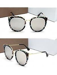 Gafas de Sol Polarizadas Mujeres Gafas de Sol Tipo Gafas de Sol Lente Azul Rayada Blanca
