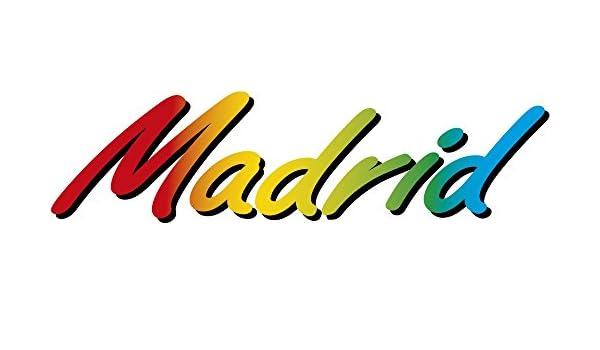 Adesivo scritta Madrid
