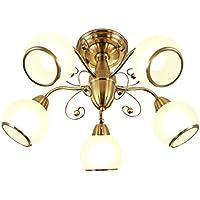Moderne Deckenleuchte Glasschirm G9 40W Flurleuchte Wohnzimmerlampe Deckenlampe