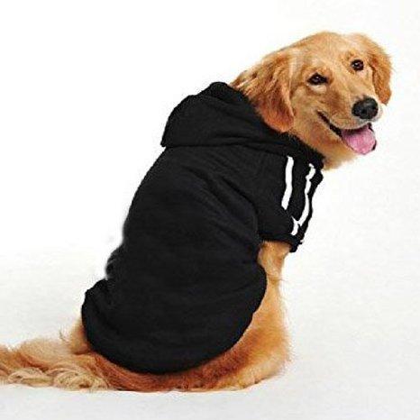 Namsan mittlere Hunde und grosse Hunde Sport-Kapuzenpullis, Hundestrickjacke, Hundemaentel --Black ()