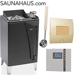 Saunaofen EOS Bi-O Max incl. Econ H4t EOS, ink.F2 Feuchtefühler, ink.EmotecL09 und exklusive Edelstahl-Saunakelle von ARTVION (12.0 kW)