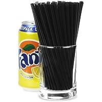 Memphis Straws 5.5inch Black - Pack of 1000 | 5.5 inch Drinking Straws, Cocktail Straws, Slim Straws