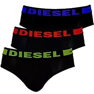 Diesel Pack De 3 Calzoncillos, Negros Con Azul De Cal