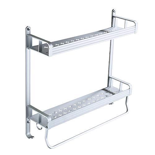 ZJYSM Handtuchhalter mit Haken zum Aufhängen des Handtuchhalters 40 cm -