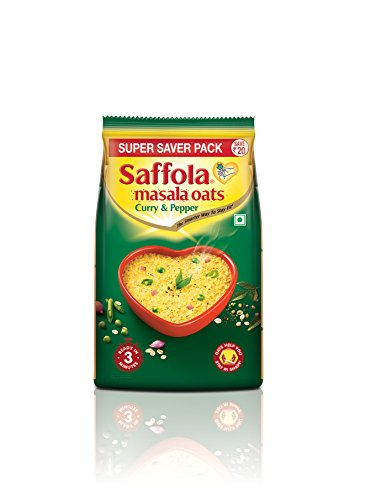 Saffola Masala Oats Curry & Pepper - 400gm Pouch