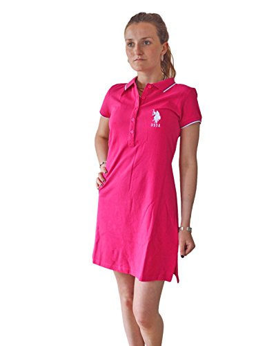 us-polo-association-vestito-donna-pink-m-10-12