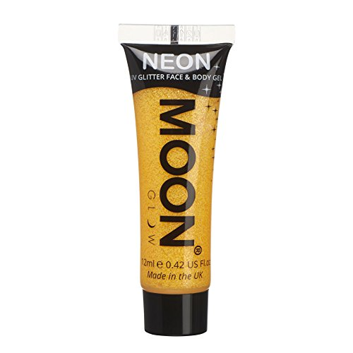 Moon Glow - Gel facial corporal purpurina neón UV