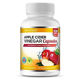 Apple Cider Vinegar - 120 Capsules - 1000mg Daily Dosage - Premium Quality Supplement - 60 Days Supply - UK Made - Vegan Suitable - Apple Cider Vinegar Capsules