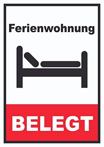 HB_Druck Ferienwohnung belegt Hochkant Schild A4 (210x297mm)