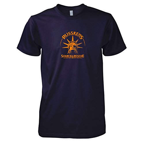 Plissken Kostüm Snake - Texlab - Plissken's Search and Rescue - Herren T-Shirt, Größe L, Navy