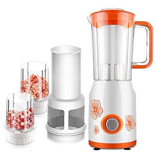 WFF Máquina de cocción Multifuncional, máquina de batido de Jugo doméstico, máquina molida de Leche de Soja sin molienda Seca molida en seco,Naranja,Cm