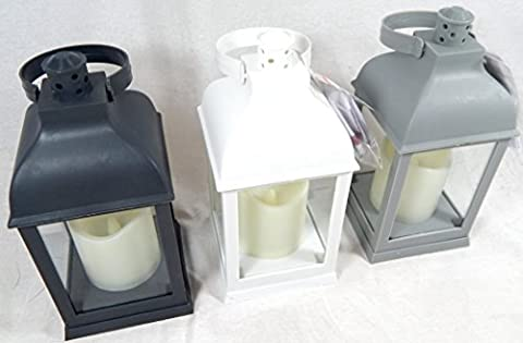 3 pcs. Lanterne avec Bougie LED Set avec