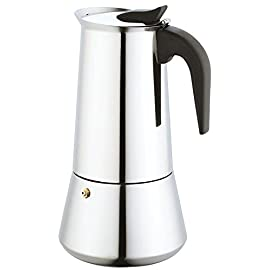 Stove Top Stainless Steel Espresso Moka Coffee Pot Maker Machine Percolator 9 Cup