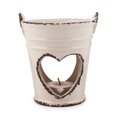 Pajoma Keramik Duftlampe ''Old Romantic'' Klein, H 10,5 cm in Beige