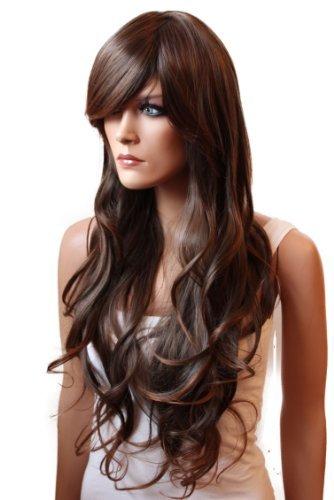 451f795fd4d9 PRETTYSHOP Parrucca da donna Fashion Capelli Lunghi ondulato 80cm  resistente al calore vari colori