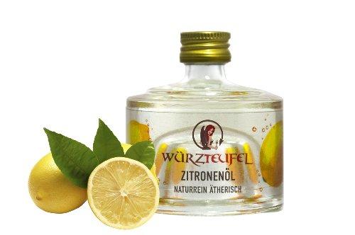 Zitronenöl NATURREIN, ÄTHERISCH. Spitzenqualität. Glasflasche 40ml.