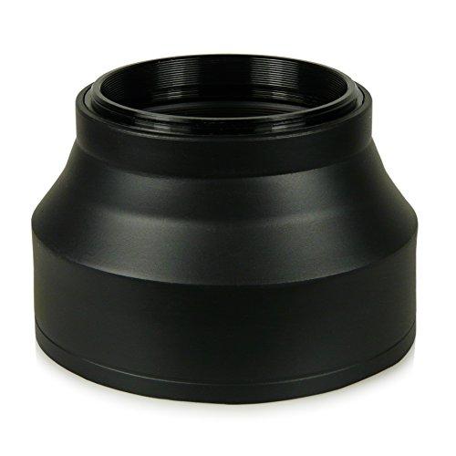 58mm Parasol de objetivo - Goma / Silicona - para Canon EOS 1DX | 5D Mark II | 5D Mark III | 5D | 6D | 7D | 10D | 30D | 40D | 50D | 60D | 70D | 100D | 1000D | 1100D | 1200D | 300D | 350D | 400D | 450D | 500D | 550D | 600D | 650D | 700D - Nikon Df - Panasonic Lumix DMC-GH4 - Samsung Galaxy NX | NX10 | NX11 | NX20 | NX200 | NX210 | NX30 | NX300 - Fuji X-A1 | X-E1 | X-E2 | X-M1 | X-T1 - Olympus E-420 | E-450 | E-520 | E-620 y mucho más…