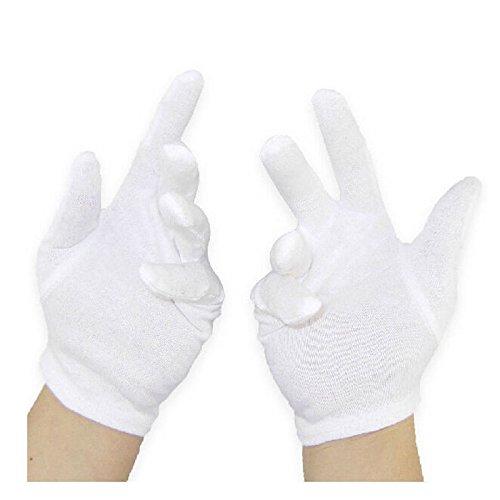 fomccu 6Paar weiße Handschuhe Baumwolle Allgemeine Zwecke Feuchtigkeitsspendende Futter Handschuhe