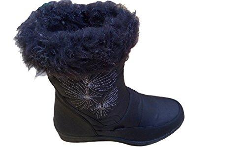 GIBRA® Femme Bottes, chaud doublés Noir Taille 36–42 Noir - Noir