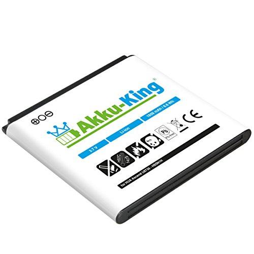 Akku-King Akku für Huawei Ascend U8680, U8815, U8818, U8730, U8812D, U8815, U8818, U8825D, Wvga, T8828, T8830, T8288, Q, Y330, Buddy, M660, Phoenix, G300, G330D - ersetzt HB5N1H - Li-Ion 1800mAh