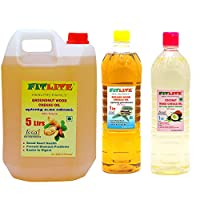 FITLITE Combo Mega Pack Groundnut Wood Chekku Oil 5 LTR + Sesame Chekku Oil 1 LTR + Coconut Wood Chekku Oil 1 LTR