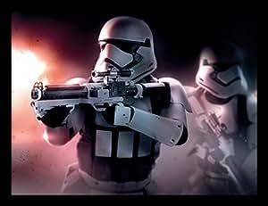 "Star Wars épisode VII 30x 40cm ""Stormtrooper Guns Affiche encadrée"