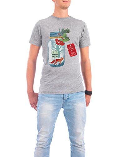 """Design T-Shirt Männer Continental Cotton """"Weihnachtsstadt im Glas"""" - stylisches Shirt Tiere Weihnachten von Tatiana Davidova Grau"""