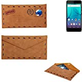 K-S-Trade Protective cover case for Allview P7 Lite, brown.