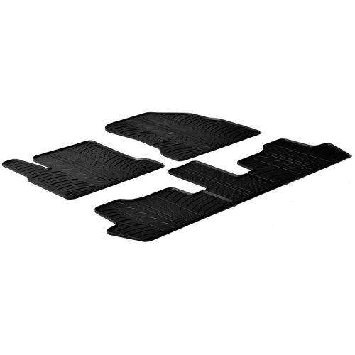 Set tapis de caoutchouc Citroen C4 Picasso 2006-2013 (T profil 5-pièces + clips de montage)