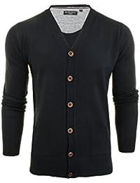 06138550959164 Mens Brave Soul Ghazali Knitted Jumper Button Through Cardigan