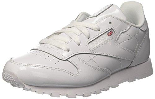 Reebok Classic Leather Patent, Zapatillas de Deporte para Niñas, Blanco (White 000), 29 EU