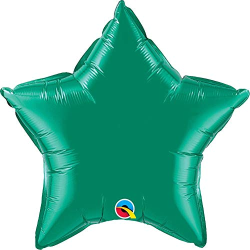 NANA'S PARTY Qualatex - Globos de decoración para Fiesta, diseño de Estrella, Color sólido, Verde Esmeralda, 9'(Pack Quantity4)