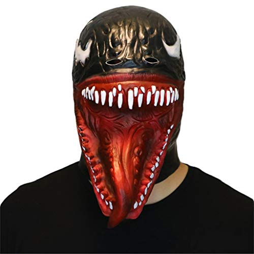 GXDHOME Latex Kopf Maske, Terror Venom Super Spinne Horror Bloody Zombie Ghost Gruseliges Halloween Kostüm