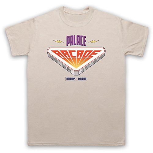 Stranger Things Palace Arcade Herren T-Shirt Beige