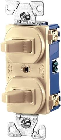 Cooper câblage appareils 15-amps 120/277-volt traditionnel Heavy Duty Grade deux commutateurs positions Pôle unique,