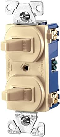 Cooper wiring Devices 15-amps 120/277-volt Traditional Heavy Duty grade Two single-pole Switches, 271V-BOX