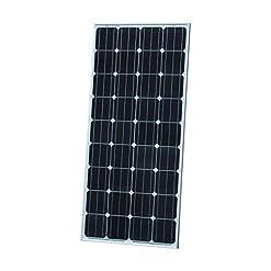 Photonic Universe – Pannello solare 150 W monocristallino con 5 m di cavi solari speciali, per caricare la batteria a 12 V, in camper, roulotte, barche e yacht, senza rete/ backup per sistemi di alimentazione a energia solare 150 W.