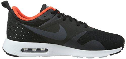 Nike Air Max Tavas, Baskets Basses Homme, Noir, UK Multicolore (Black/Dark Grey/Ttl Crmsn/Wht)