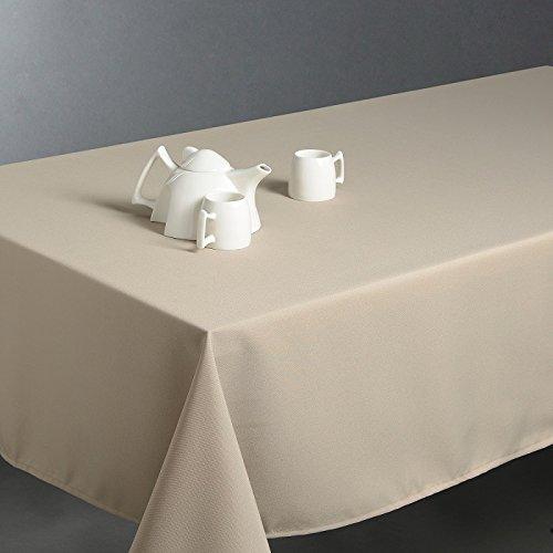 Nappe anti-tache rectangulaire couleur lin 150x300 cm