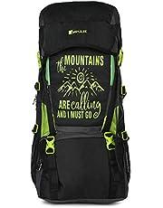 Impulse Waterproof Travelling Trekking Hiking Camping Bag Backpack Series 55 litres Green Mt Calling Rucksack