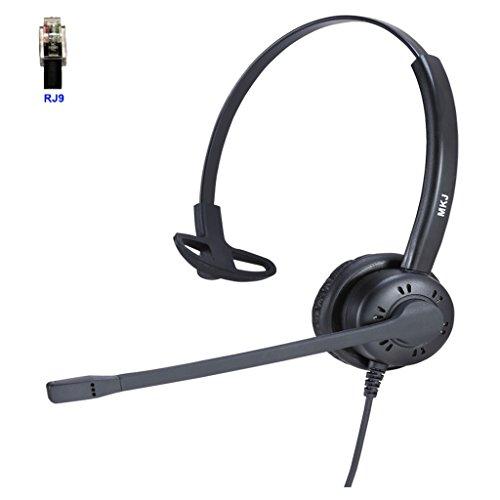 MKJ Telefon Headset Cisco Headset Noise Cancelling Mikrofon NUR für Cisco Telefon mit RJ9Headset Jack 7931G, 7940, 7941G, 7942G, 7945G, 7960, 7961, 7961G, 7962G,/G, 7970, 7971, 7971G