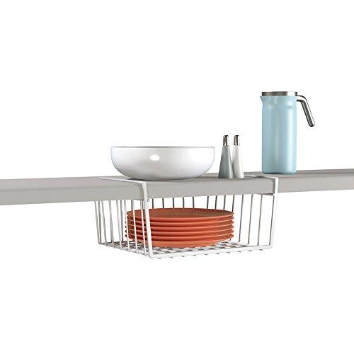 Metaltex babatex - cestello per armadio, 30 x 26 x 14 cm, metallo rivestito in plastica, bianco