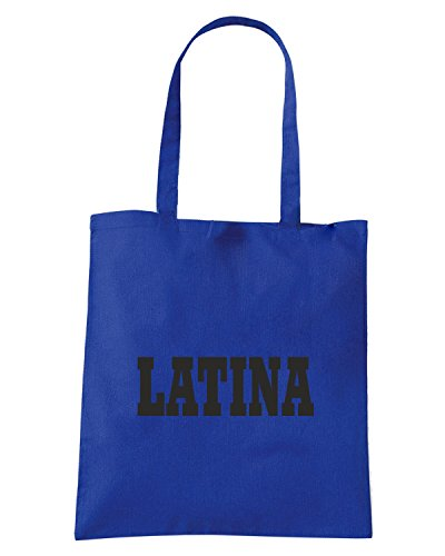 T-Shirtshock - Borsa Shopping WC0998 LATINA ITALIA CITTA STEMMA LOGO Blu Royal