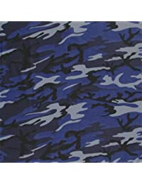 ROYAL BLUE, light blue, grey & black CAMOUFLAGE Bandana