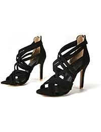Tacon Romanas Zapatos Para 46 Mujer Amazon esSandalias nPk0X8wO
