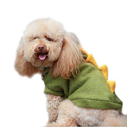 landsell Hunde Katze Dinosaurier Pet Kostüme Kleidung Bekleidung niedliche Kleidung (grün, - Pet Dinosaurier Kostüm