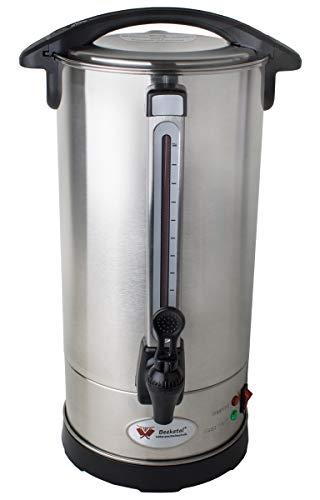 Beeketal \'BGK9\' Gastro Rundfilter Kaffeemaschine 9 Liter, Edelstahl Filterkaffeemaschine doppelwandig mit 2 Heizsystemen (Brühen/Warmhalten), Füllstandsanzeiger und rosftreiem Permanent-Filter